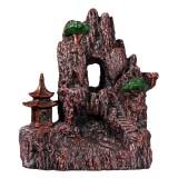 Mountain Waterfall Pavilion Backflow Incense Cone Burner Holder Fragrant Home Censer Decor