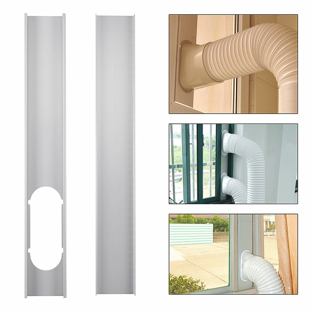 2pcs Adjustable Window Slide Kit Plate Air Conditioner