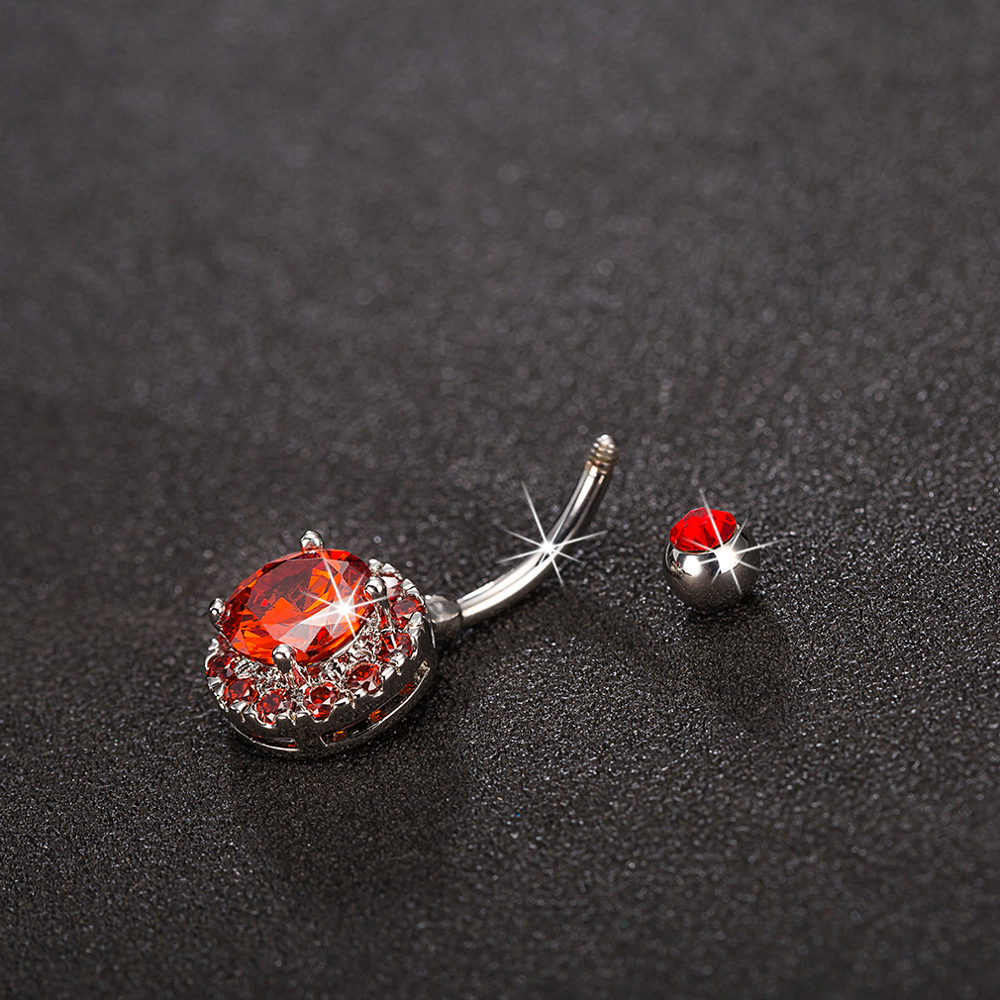 Trendy Dazzling Zirconia Crystal Body Jewelry Fashion Belly Ring Piercing Navel Ring for Women