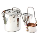 8 GAL/30L Copper Moonshine Ethanol Alcohol Water Distiller Stainless Boiler Kitchen Brewing Wine
