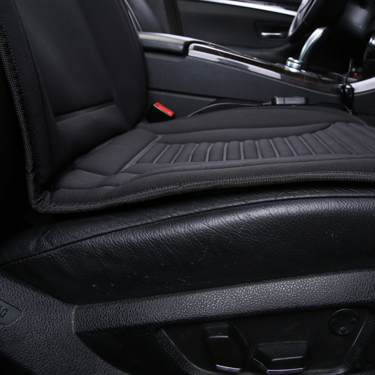 12V Polyester Black Car Seat Heated Cushion Seat Warmer Winter Household Cover Electric Heating Mat