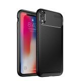 Bakeey Protective Case For iPhone XR Slim Carbon Fiber Fingerprint Resistant Soft TPU Back Cover