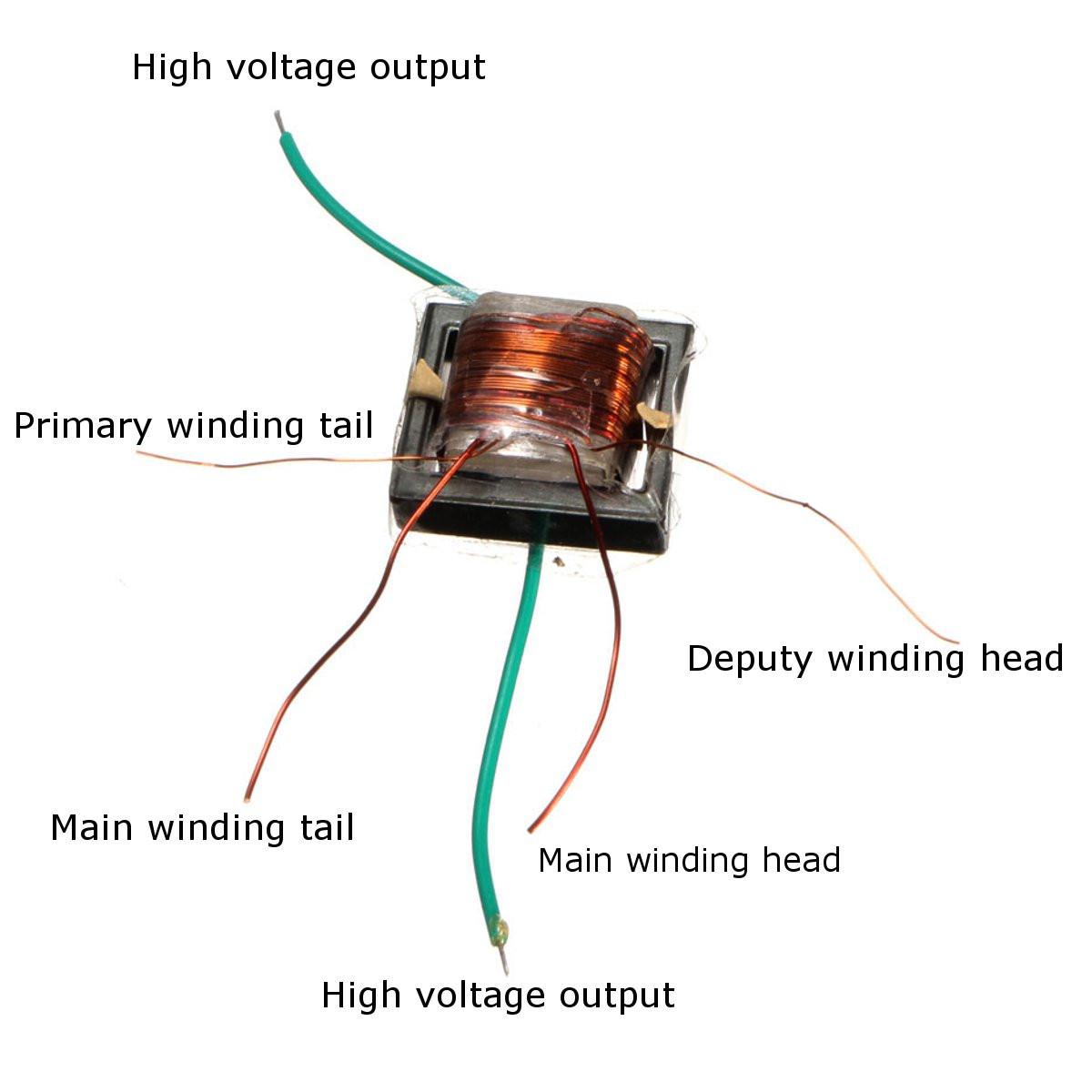 6Pcs 10KV High Frequency High Voltage Transformer Booster Coil Inverter