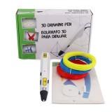 D9 3D Printing Low Temperature Drawing Pen with EU Plug/US Plug Power Adapter + 3 Roll Filament Kit
