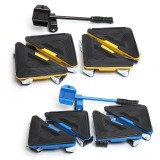 5PCS Furniture Lifter Moves Triple Wheels Mover Sliders Tools Kit Furniture Moving System