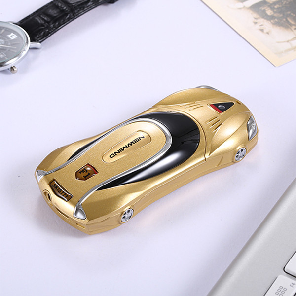 Newmind F1+ 2000mAh Car Model Phone Whatsapp FM Bluetooth MP3 Dual Sim Dual Standby Mini Card Phone
