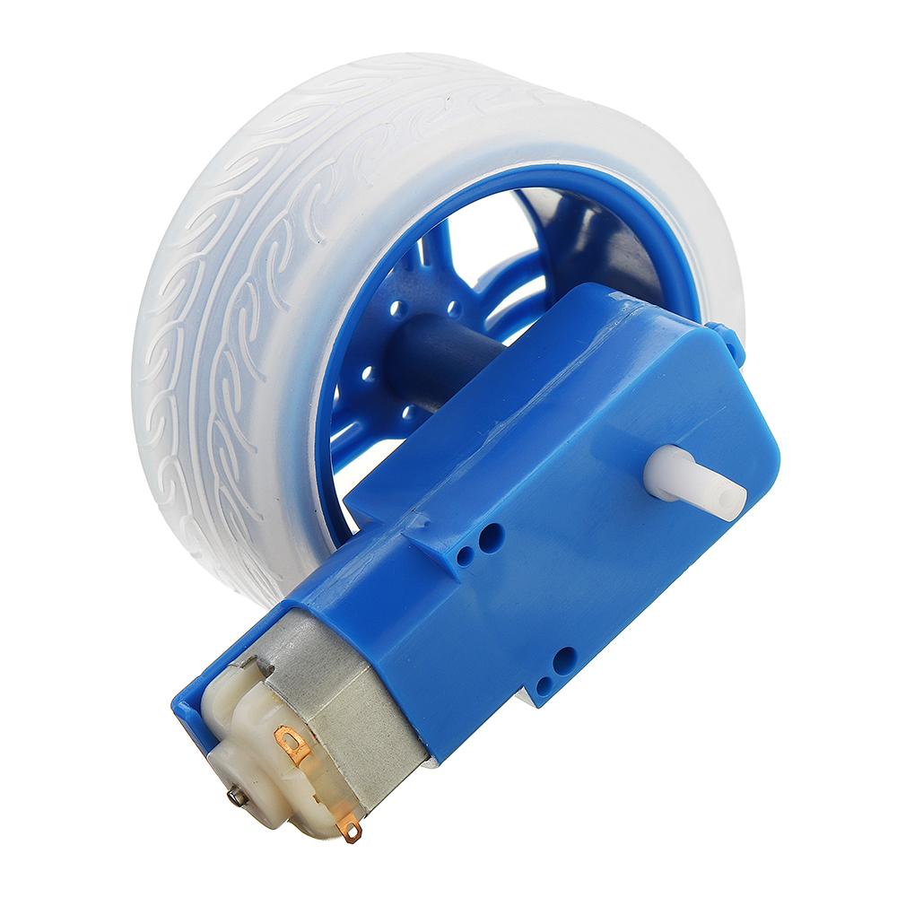 3-6v TT Motor + Rubber Wheel Blue/Orange Color DIY Kit For Arduino Smart Chassis Car Accessories