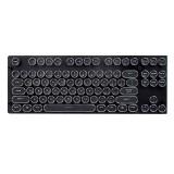 87 Key 104 Key Steampunk ABS Round Plated Retro Circular Keycap for Mechanical Keyboard