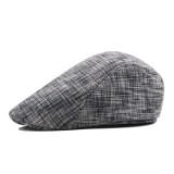 Men Women Winter Cotton Painter Beret Hat Outdoor Warm Striped Gatsby Newsboy Hunting Caps