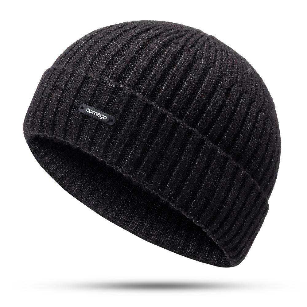 Men Women Winter Windproof Warm Knit Beanie Cap Outdoor Slouch Skullcap