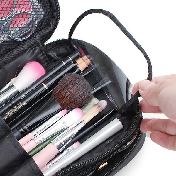 Nylon Travel Bag Double Layer Portable Storage Bag Cosmetic Bag For Women