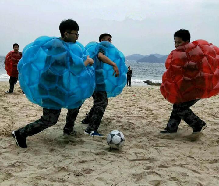 60cm PVC Inflatable Toys Bubble Garden Camping Outdoor Children Game Football Soccer Bouncing Ball