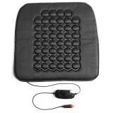 12V Car Fibre Heated Seat Cushion Seat Warmer Winter Household Cover Electric Heating Mat Black