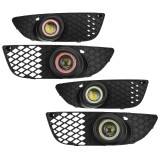 Pair H11 40A 55W Car Clear Lens Halo Ring Fog Lights Lamps for Mitsubishi Lancer 2008-2014