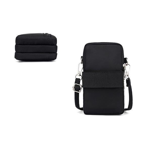 Women Nylon Water Resistant Crossbody Bag Multi-function Phone Bag Shoulder Bag
