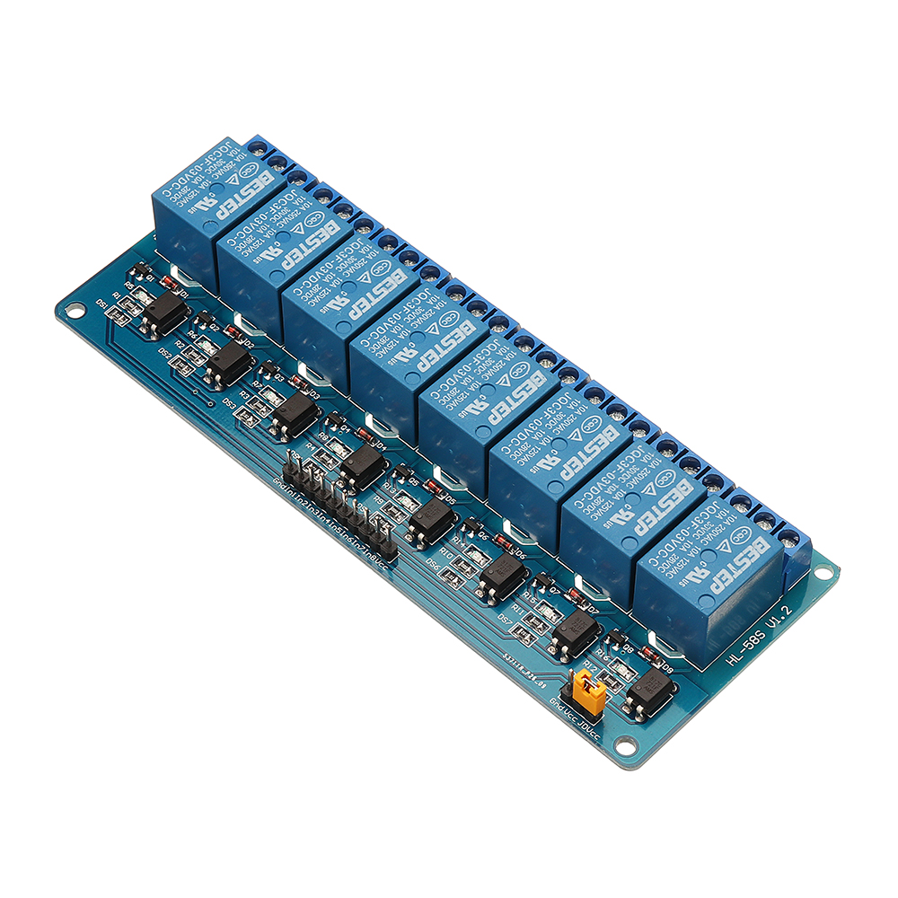 BESTEP 8 Channel 3.3V Relay Module Optocoupler Driver Relay Control Board Low Level For Arduino