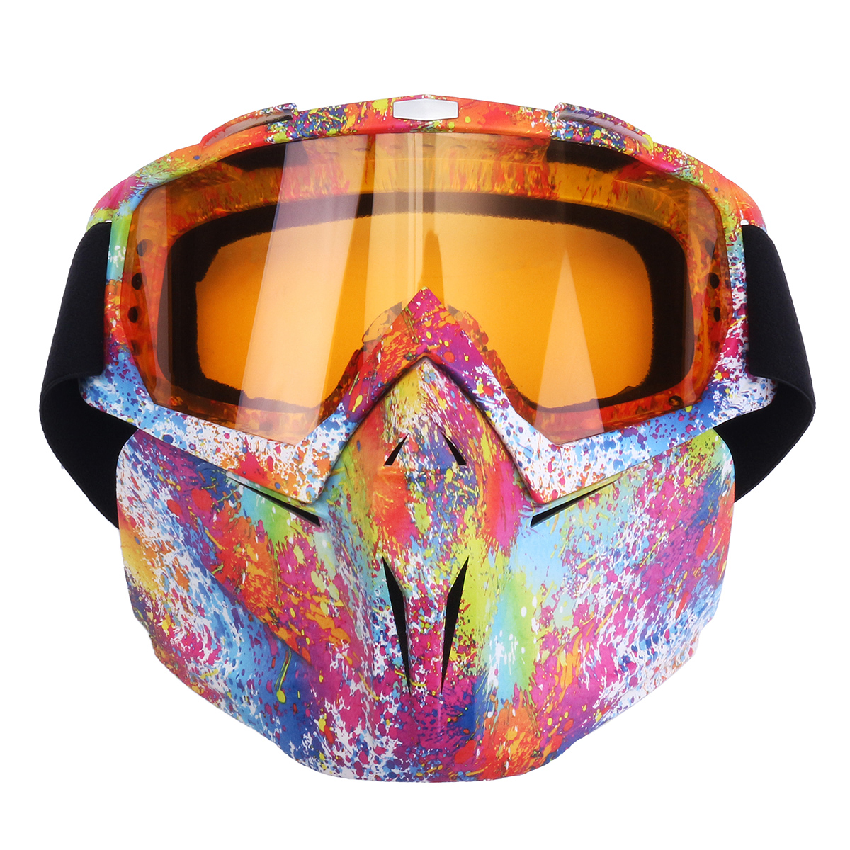 Motorcycle ATV MX Dirt Bike Riding Goggles Flexible Glasses Face Mask Protector