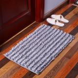 Chenille Striped Floor Mat Carpet Rectangle Fluffy Floor Carpet Cover