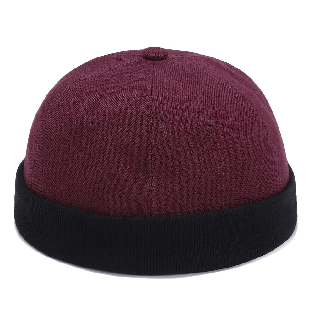 More Details. More Detailed Photos  Mens Womens Cotton Adjustable French  Brimless Hats Outdoor Plain Skullcap Sailor Cap be14186bc6c2