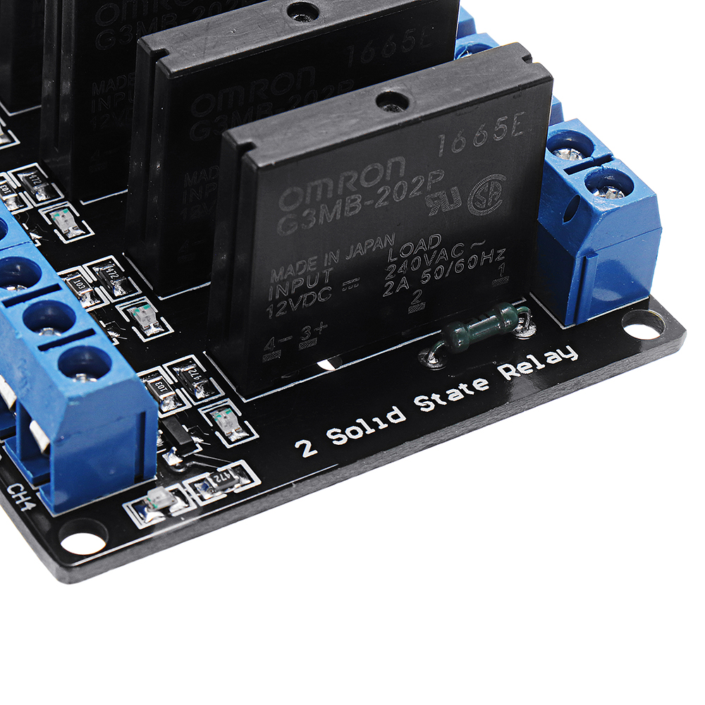 4 Channel DC 12V Relay Module Solid State High and low Level Trigger For  Arduino 240V2A