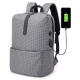 678b35ed14 ... 21L USB Backpack Stripe Business Bag 15.6 Inch Laptop Bag Travel  Waterproof Polyester Storage Bag