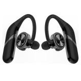 [True Wireless] Portable Bluetooth Earphone TWS Bass Stereo IPX6 Waterproof Sport Headset With Mic