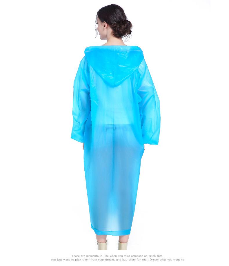 Fashion Raincoat Adult Hiking Outdoors Fishing Raincoat EVA Plastic Environmental Protection Poncho