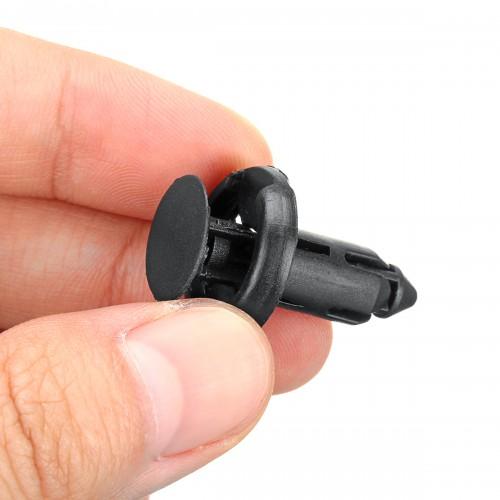 50pcs 8mm Black Plastic Door Trim Moulding Clip Retainer Panel Car Fastener Clip For Toyota