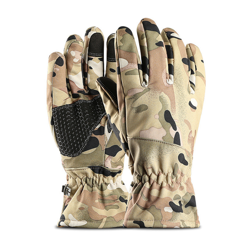 Waterproof Warm Winter Skiing Motorcycle Cycling Outdoor Touch Screen Windproof Full Finger Gloves