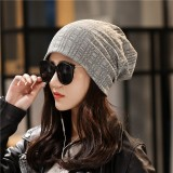 Mens Womens Winter Slouchy Beanie Caps Outdoor Double Layers Earmuffs Brimless Bonnet