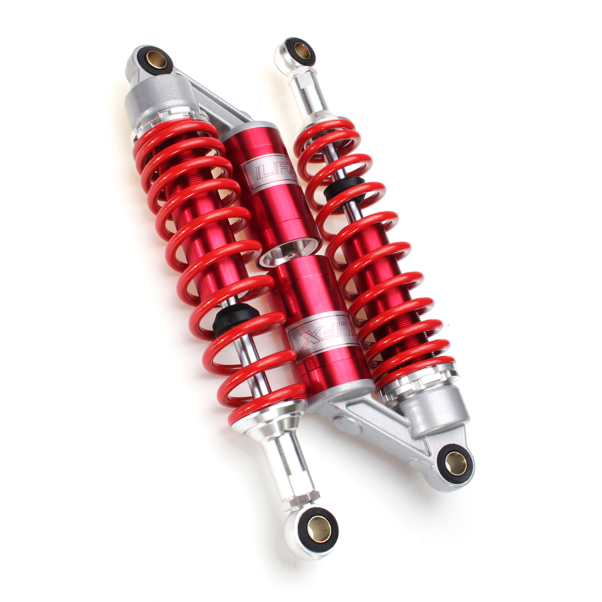 Motorcycle Shock Absorber 7mm Motorized Damping 340mm Round Connector Red
