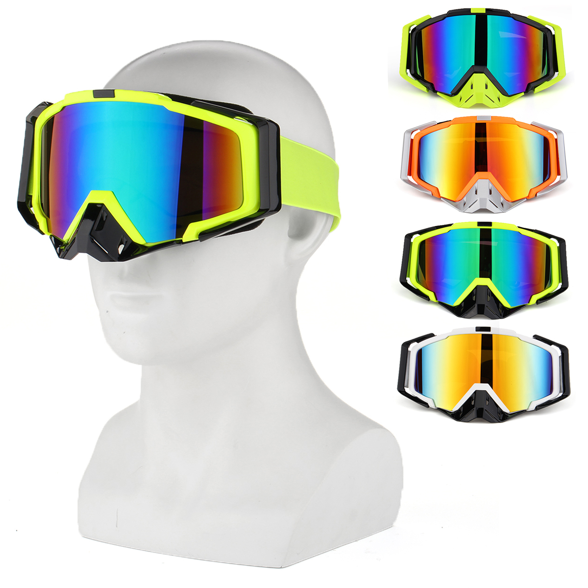 TYF102 Outdoor Skiing Skating Goggles Snowmobile Glasses Windproof Anti-Fog UV Protection For Men Wo