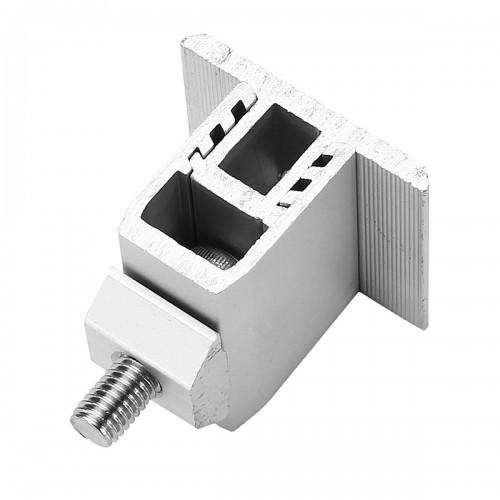 Sliver Aluminum Alloy Solar Panel Mounting Bracket 19mm-29mm Adjustment Range for Framed Solar Panel