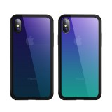 Bakeey Gradient Color Scratch Resistant Tempered Glass Protective Case For iPhone X/8/8 Plus/7/7 Plu