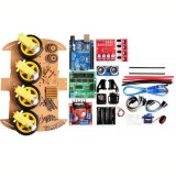 4WD DIY Smart Chassis Car Kit  For Arduino with UNO R3 + Ultrasonic Module+Motor drive board