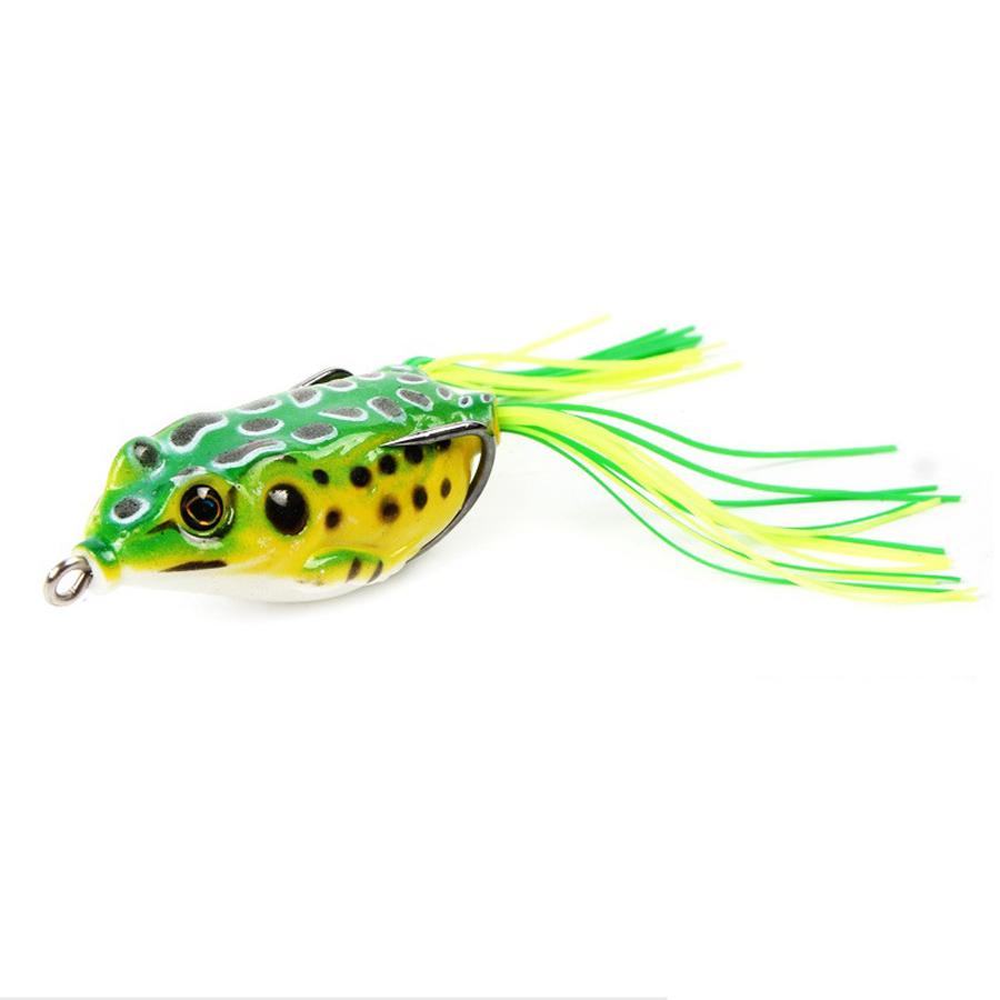 5Pcs/Set 14g 11cm Plastic Soft Dual Hook Frog Lure Artificial Topwater Wobbler Fishing Lure