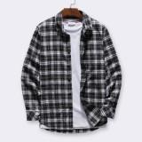 ChArmkpR Men's Fashion Cotton Plaid Button Fly Business Long Sleeve Casual Shirts