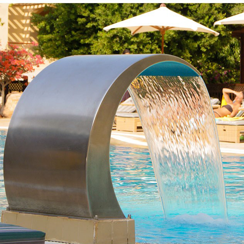 Stainless Steel Pool Accent Fountain Pond Garden Swimming Pool Waterfall  Feature Decorative Hardware