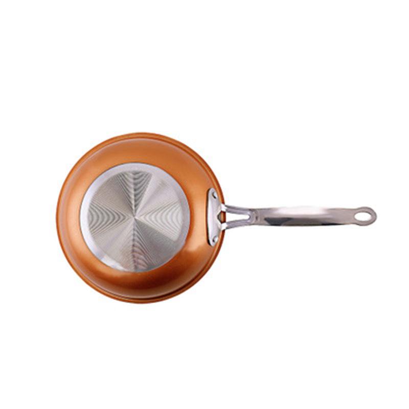 Copper Chef Round Fry Pan Non-stick Frying Pan Copper-colored Aluminum Pan Cookware