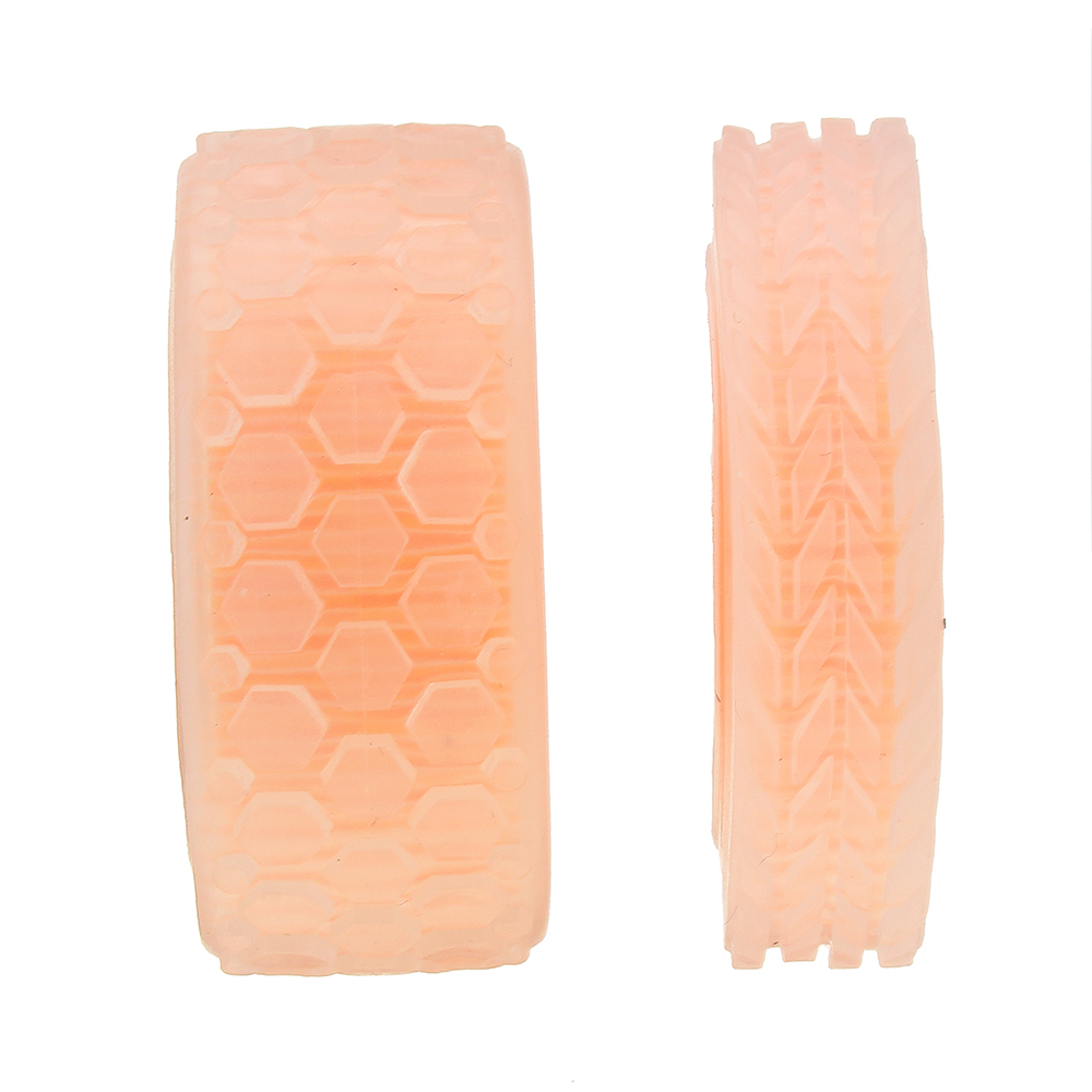 47*12mm/47*21mm 64T Transparent Tire Orange Rubber Wheel for DIY Smart Chassis Car Accessories
