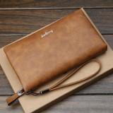 Baellerry Men Multifunctional Long Business Wallet Phone Bag Clutch Bag