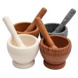 Resin Pestle & Mortar Set Garlic Herb Spice Mixing Grinder Crusher Kitchen Bowl Smashing Tools