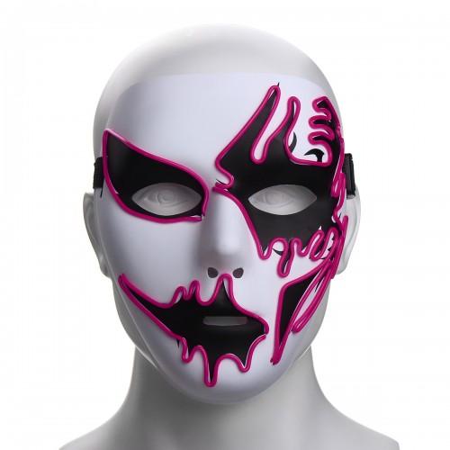 Halloween Mask LED Luminous Flashing Party Masks Light Up Dance Halloween Cosplay Props
