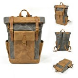 Men Women Travel Vintage Backpack Canvas Waterproof Outdoor Large Capacity Backpack Unisex Camping