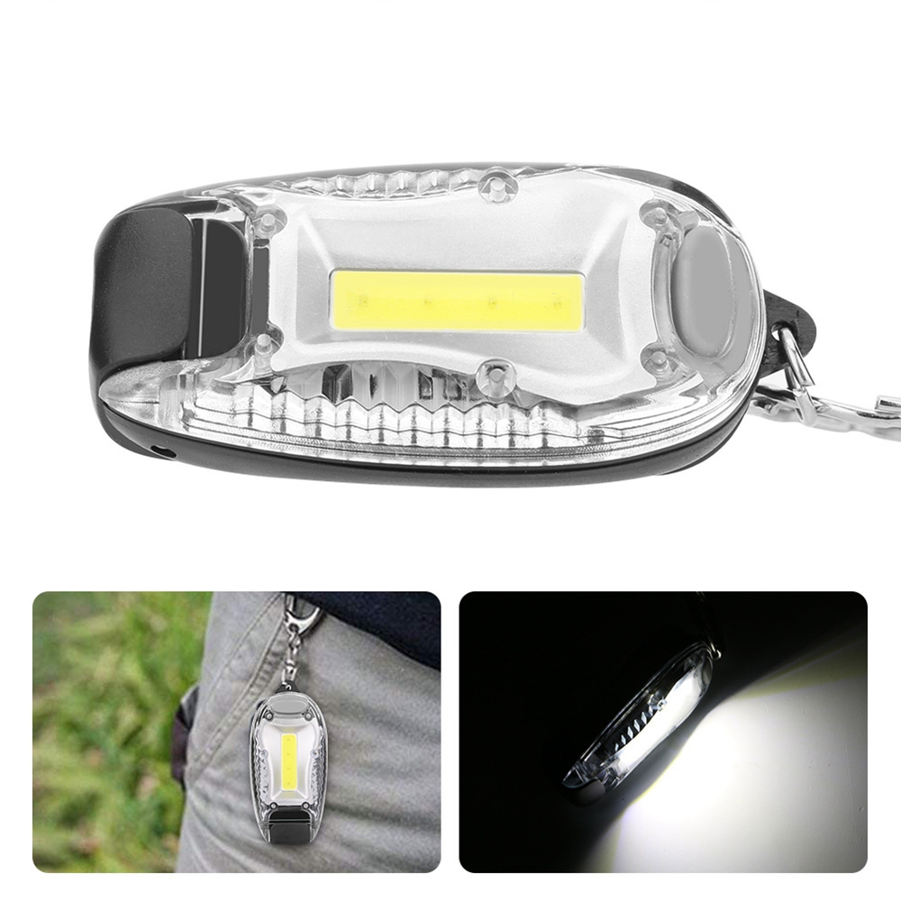Mini Portable COB LED Keychain Camping Work Light Battery Powered Tent Emergency Lamp Flashlight