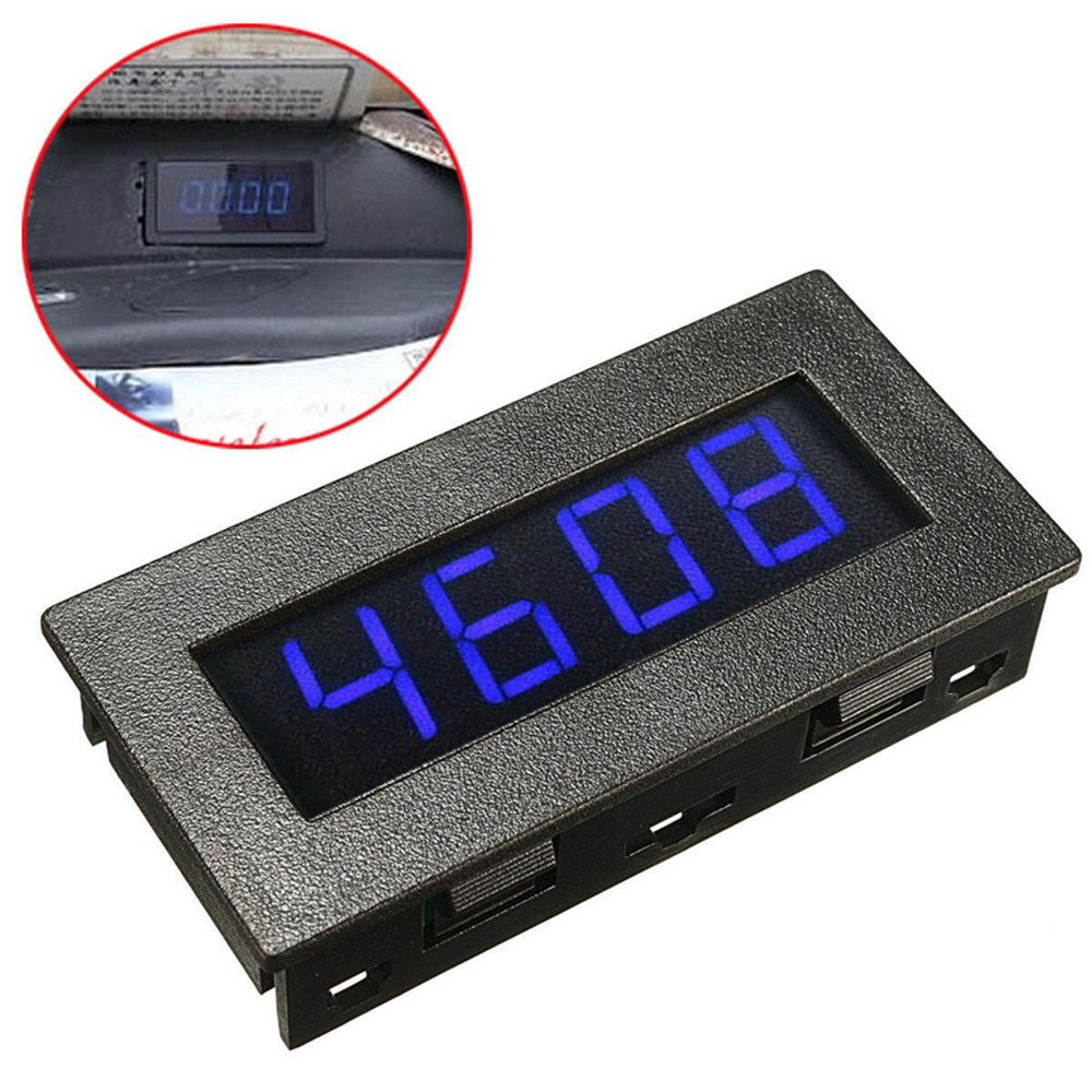 4 Digital LED Tachometer RPM Speed Measure Gauge With Hall Proximity Switch Sensor NPN