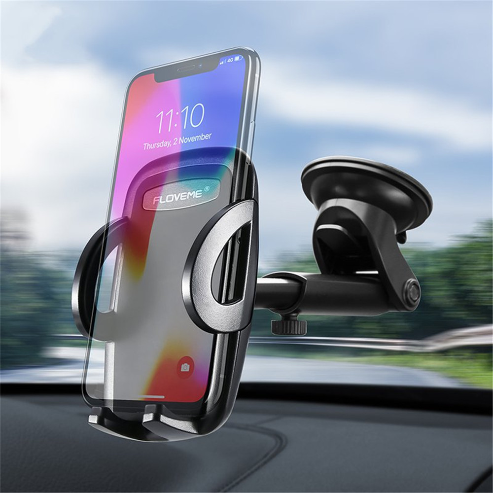 Floveme Strong Suction Adjustable Clip Extendable Arm Car Dashboard Holder for Xiaomi Mobile Phone