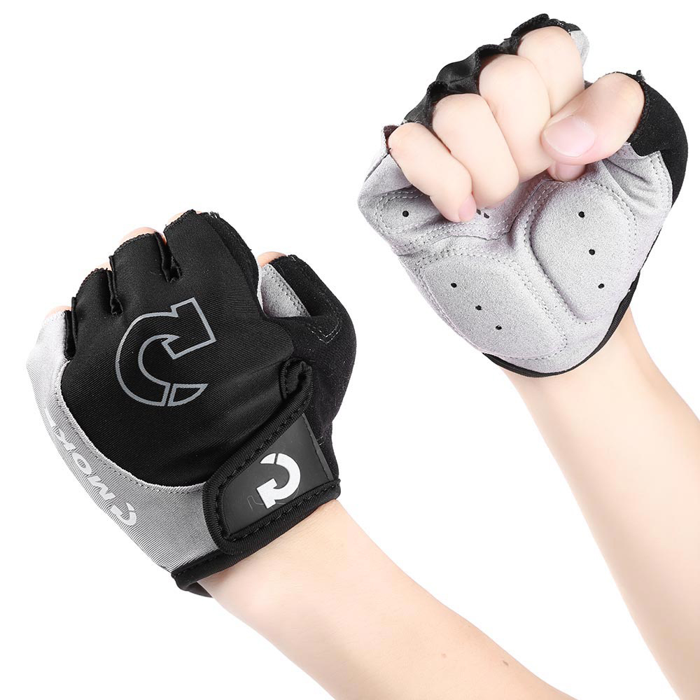 MOKE Unisex Women Men Adult Cycling Bike Bicycle Gloves Half Finger Anti-slip Motorcycle Riding