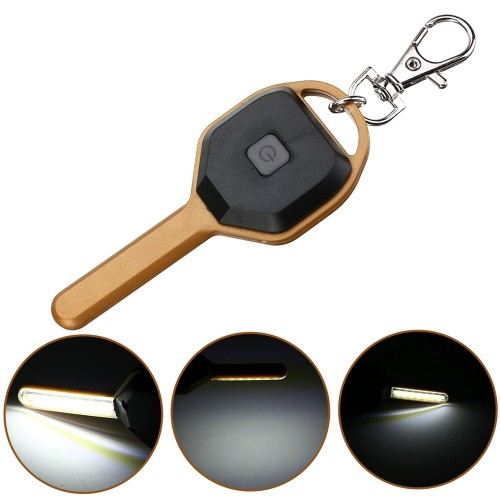 Mini COB LED Key Chain Flashlight Portable Keyring Light Torch Pocket Emergency Camping Lamp