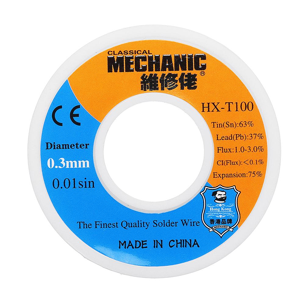 MECHANIC 0.3mm 0.4mm 0.5mm 0.6mm 0.8mm 50g Low Melting Point Solder Wire 63Sn 37Pb